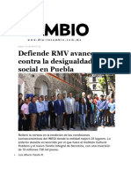 19-07-2016 Diario Cambio - Defiende RMV Avances Contra La Desigualdad Social en Puebla