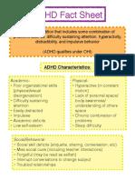 disability fact sheet  adhd