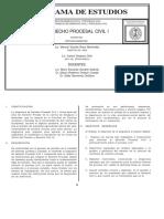 232 Derecho Proc Civil I programa