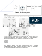 Teste de Portugues 2 Bim