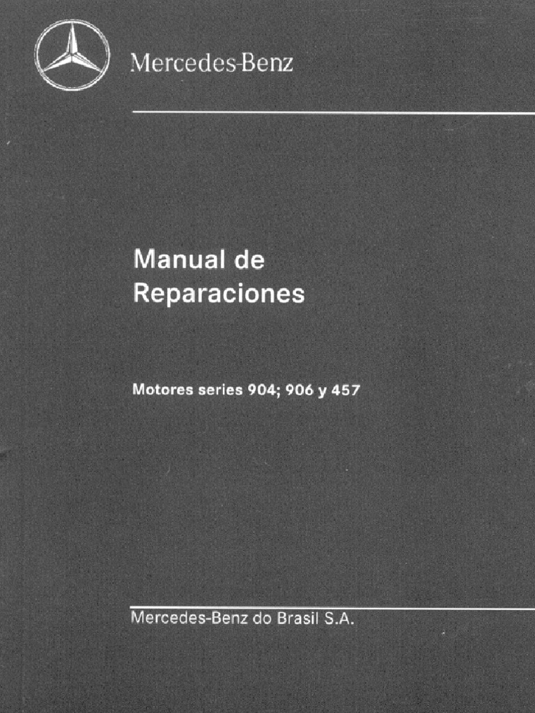manual de reparaci n mercedez 904 906 rh es scribd com manual de motor mercedes benz 904 pdf manual de motor mercedes benz om 904