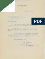 Mark A. Matthews to John MacInnes, 1928