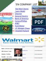 Top Ten Company List