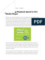 Controlling Playback Speed in VLC Media Player