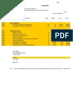 Presupuesto Carretera Chino Puente Pumahuasi 01