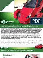 ACSEC Presentation by Elio Motors