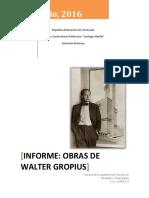 Informe Walter Gropius