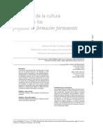 Mediación de La Cultura Docente en Los Proyectos de Formación Permanente. Rosa Amaya de Rebolledo, Zoila Rosa Amaya