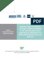 Ancheta Nationala de Sanatate Orodentara 2009-10 Belgia Rapport