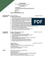 kreeping resume 2016