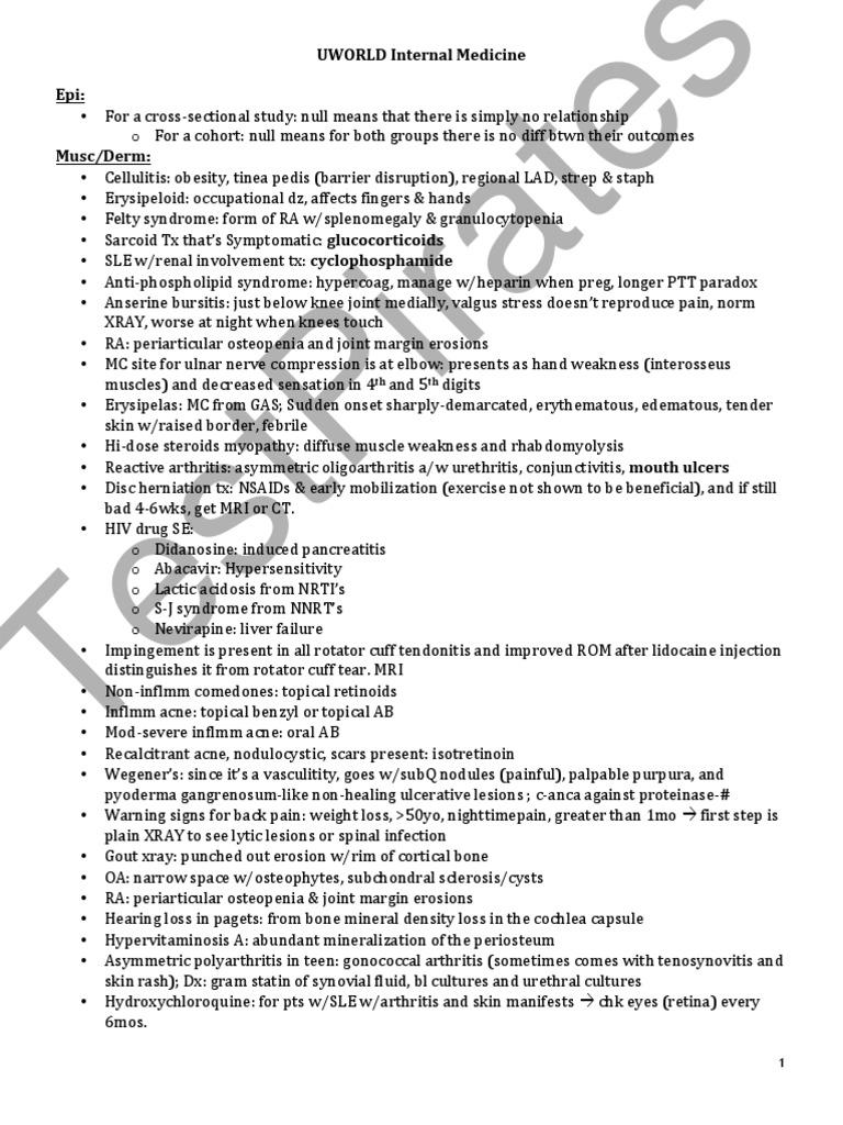 Uworld Notes 2 Rounds TP | Shock (Circulatory) | Myocardial