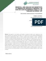 Artigo - XI CNEG - Gestão Ambiental_uma Análise Dos Benefícios Sociais e Ambientais Gerados à Empresa