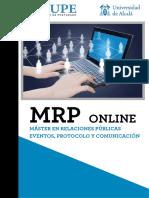 Master en Relaciones Publicas Protocolo y Comunicación