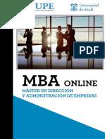 MBA Master en Direccion y Administracion de Empresas