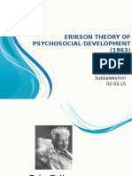 Erikson theory of pschology final year