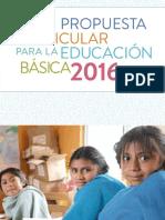 Propuesta Curricular para la Educación Básica 2016