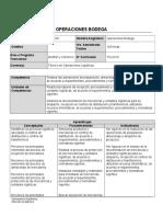 Programa de Asignatura TOL-201 Operaciones de Bodega