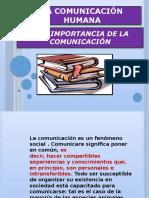 1. Comunicación Humana y La Importancia de La Comunicacion