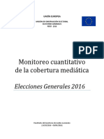 Informe final – Anexo II – Monitoreo cuantitativo de la cobertura mediática