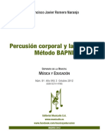 Percusión Corporal y Lateralidad. Método BAPNE
