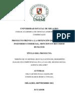Diseño de Un Sistema de Evaluación Del Desempeño Basado en Competencias, En La Caja Del Seguro Social Agencia Milagro
