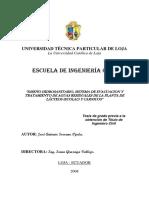 Diseño Hidrosanitario, Sistema de Evacuación y Tratamiento de Aguas Residuales de La Planta de Lacteos (ECOLAC) y Cárnicos