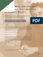 Delirio y Margen Como Estrategias Discursivas en Dos Narraciones de Roberto Bolaño