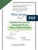 Simulation Des Correcteurs PID