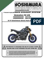Yoshimura r77 Exhaust System Yamaha Fz092014