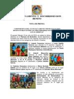 Nota de Prensa Club Salvamento y Socorrismo Don Benito