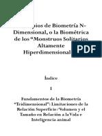 """Principios de Biometría N-Dimensional, o La Biométrica de Los """"Monstruos Solitarios Altamente Hiperdimensionales"""""""