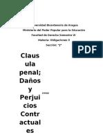 Obligaciones - Causula Penal