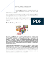 Planificacion y Gestion Educativa