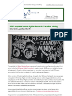 Loretto at the UN - MWG Takes on Canadian Mining