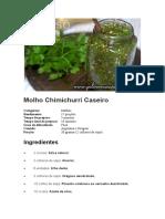 Molho Chimichurri Caseiro