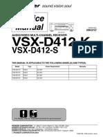 Pioneer Vsx d412k s Rrv2727