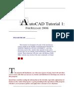 Autocad Tutorial 1