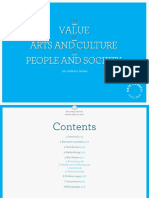 The Value of Arts and Culture to People and Society an Evidence Review TWO