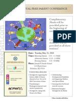 Hoboken Parent Conference Flyer 2010