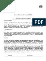 Acta Entrega Libros 4to