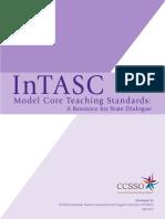 intasc model core teaching standards 2011