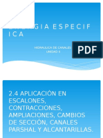 2.4,2.5, 2.6 APLICACIONES EN ESCALONES, CONTRACCIONES, AMPLIACIONES, CAMBIOS DE SECCIÓN