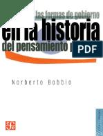 Bobbio. La Teoría de Las Formas de Gobierno en La Historia Del Pensamiento Político