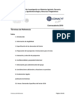 SAGARPA Terminos de Referencia2016