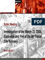 CSB PM - Investigation of Explosion and Fire BP Texas City Refinery