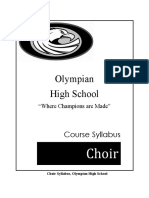 syllabus choir 2016