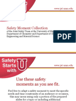 Safety Moment Collection- 4 - Safe Working Habits
