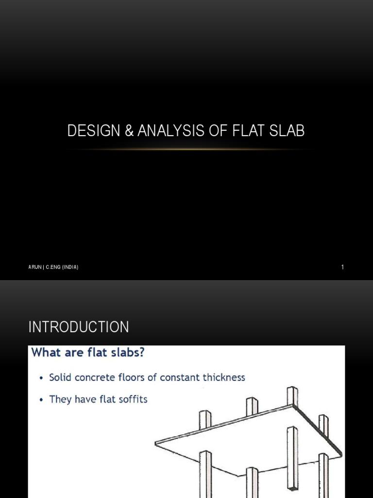 design and analysis of flat slab bending column rh scribd com Flat Concrete Roof Slab Design Flat Concrete Roof Slab Design