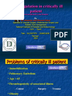 Anti-Coagulation in Critically Ill Patient by Dr Moustafa Elshal _ Medics Index Member