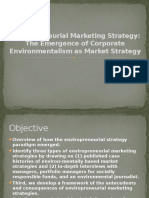 Enviropreneurial Marketing Strategy